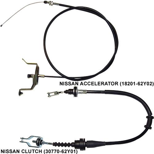 NISSAN 加油门线、离合器线 (Auto Cable)