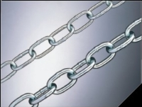 Steel passing link chains