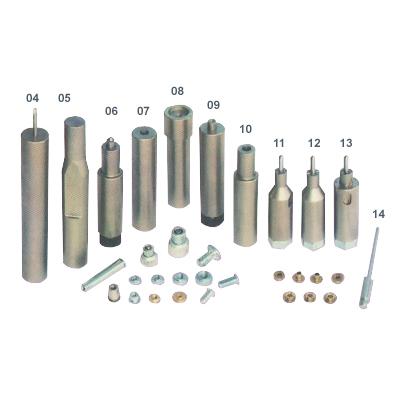 鉚合自樁式鉚釘 , 螺柱及螺帽等模具
