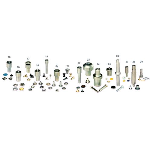 鉚釘機 , 鈕釦機 , 手壓台 , 沖床 , 沖孔機模具