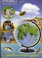 动物图案地球仪