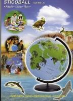 動物圖案地球儀