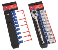 Anti-thief Vertical Socket Display Pack with Ratchet Clip