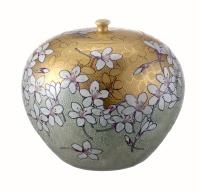 油桐花彩繪茶葉罐
