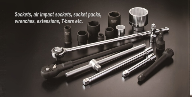 Sockets, Air impact sockets, socket packs, wrenches,extensions, T-bars