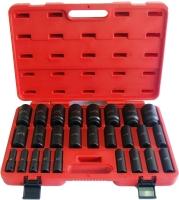 """26PC 1/2"""" Deep Impact  Socket Set (MM)(HI-VIZ) CR-MO 12 Point"""