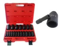 """19PC 1/2"""" Deep Impact  Socket Set (SAE)(HI-VIZ) CR-MO 12 Point"""