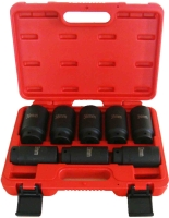 """8PC 1/2"""" DR. Deep 12-Point  AXLE/SPINDLE NUT  SOCKET SET (Metric, 12-PT) CR-MO"""