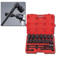 """22-pc 3/4"""" Dr. Deep Impact Socket Set CR-MO (6-point model, SAE approved)"""