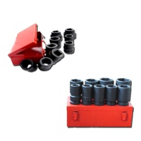 "10-pc 1"" Dr. Truck Service Hi-Viz Impact Socket Set CR-MO (SAE approved)"