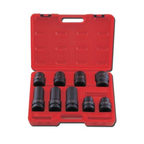 "10-pc 1"" Dr. Deep Impact Socket CR-MO (SAE approved)"