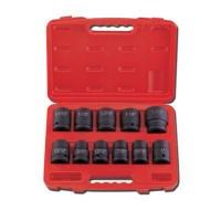 """11-pc 3/4"""" Dr. Truck Service Socket Set CR-MO (SAE approved)"""
