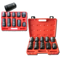 "11-pc 1"" Dr. Duometric Truck Service Hi-Viz Impact Socket Set CR-MO"
