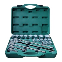 "21-pc 3/4"" Dr. Socket Wrench Set CR-V  (12-point model, metric combination)"