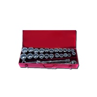 "27-pc 3/4"" Dr. Socket Set CR-V (12-point model, metric combination, SAE approved)"