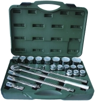 "21-pc 3/4"" Dr. Socket Set CR-V (6-point model, metric combination)"