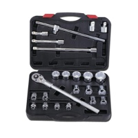 "23-pc 3/4"" Dr. Socket Wrench Set CR-V  (6-point model, metro combination)"