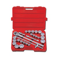 """26-pc 3/4"""" Dr. Professional Socket Set CR-V (12-point model, metric combination, SAE approved)"""