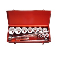 "15-pc 1"" Dr. Socket Set CR-V (12-point model, metric combination)"