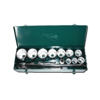 "16-pc 1"" Dr. Socket Set CR-V  (6-point model, metric combination)"