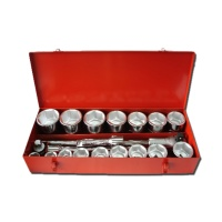 "21-pc 1"" Dr. Socket Set CR-V  (6-point model, metric combination)"