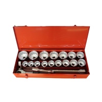 "22-pc 1"" Dr. Socket Set  (12-point) CR-V"