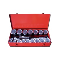 "22-pc 1"" Dr. Socket Set CR-V  (6-point)"