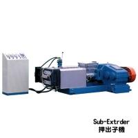 雙脫氣塑膠廢料處理再生製粒機 (押出子機)