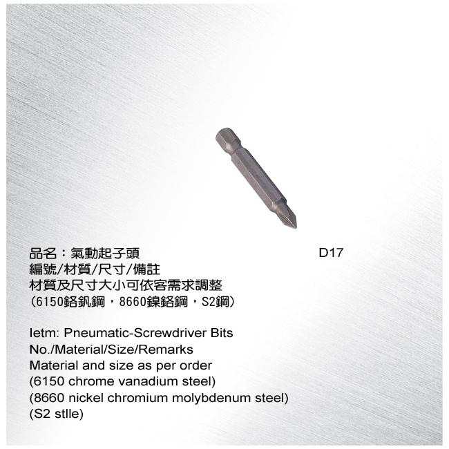 Pneumatic-Screwdriver Bits