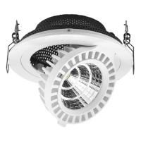 1x17W LED Embedded Aluminum Ceiling Light