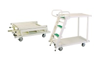 Movable, Foldable Collector Cart