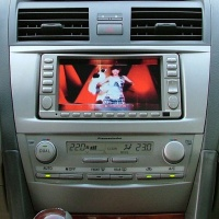 """6.5"""" 2-Din Downward-Sliding LCD Monitor with DVD Player"""