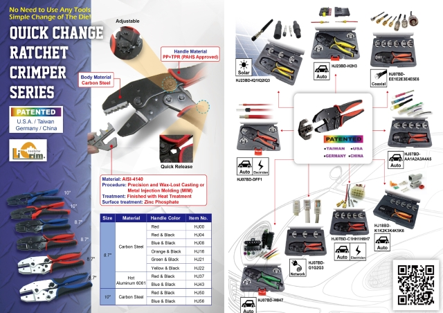 Quick Change Ratchet Crimper Series