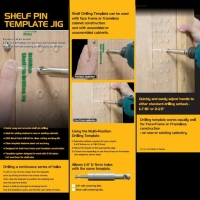 Shelf Pin Template Jig