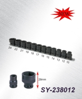 1/2 DR. Stubby Impact Socket Set MM
