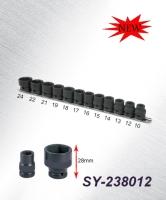 1/2 DR. Stubby Impact Socket Set MM