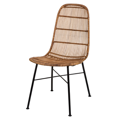 The Container Sales K/D MCM WOVEN RATTAN CHAIRS