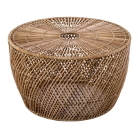 The Natural SOGO WICKER DRUM COFFEE TABLES