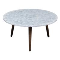 NEGROS K/D CAPIZ SHELLS INLAY ROUND COFFEE TABLES