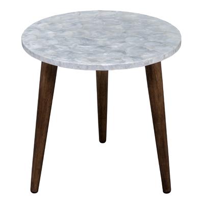 NEGROS K/D CAPIZ SHELLS INLAY END TABLES