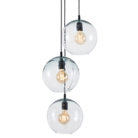 GENOVA RECYCLE GLASS HANGING LAMPS,3 lites