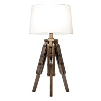 MARINER WOODEN TRIPOD TABLE LAMPS
