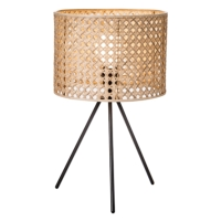 HK SPLIT CANE WEAVE TABLE LAMPS