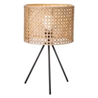 HK SPLIT CANE WEAVE TABLE LAMPS