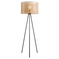 HK SPLIT CANE WEAVE FLOOR LAMPS
