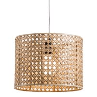 HK SPLIT CANE WEAVE HANGING LAMPS