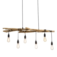 6 LITES DRIFTWOOD BRANCHES CHANDELIERS