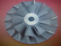 Turbocharger compressor wheel, turbine wheel.