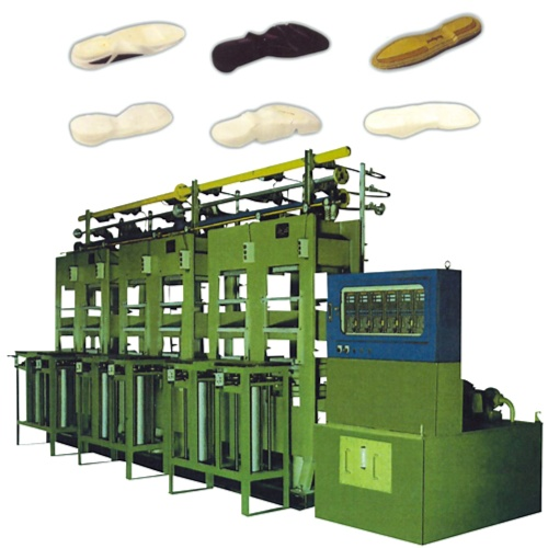 EVA Moulded wedge (Phylon) Hyd. Cooling & Hot Presses, Steel Plate Stype