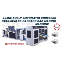 2-line Fully Automatic Coreless Star-sealed Garbage Bag Making Machine